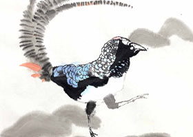 锦鸡-国画培优班-2020年7月4日◆春季班◆新起点画苑-学生作品