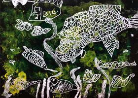 海底世界-儿童画启智班-2020年7月3日◆春季班◆新起点画苑-学生作品