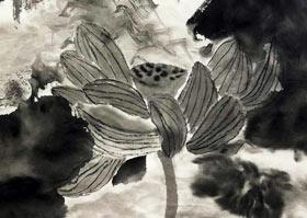 水墨莲花-国画培优班-2020年7月11日◆春季班◆新起点画苑-学生作品