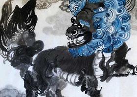 舞麒麟-国画大师班-2020年7月11日◆春季班◆新起点画苑-学生作品