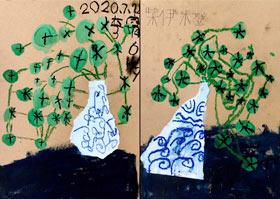 青花花瓶-儿童画启智班-2020年7月29日 ★暑假班★ 新起点画苑-学生作品