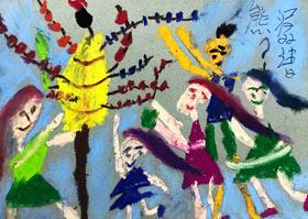 卖冰糖葫芦-儿童画A班-2020年7月29日 ★暑假班★ 新起点画苑-学生作品