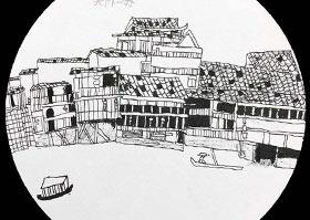 凤凰古城-儿童画B班-2020年7月29日 ★暑假班★ 新起点画苑-学生作品