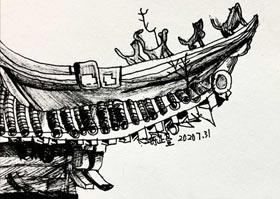 屋檐-儿童画B班-2020年7月31日 ★暑假班★ 新起点画苑-学生作品