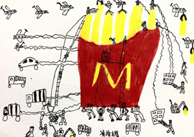 小人国-儿童画A班-2020年8月1日 ★暑假班★ 新起点画苑-学生作品