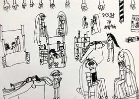 理发-儿童画A班-2020年8月4日 ★暑假班★ 新起点画苑-学生作品