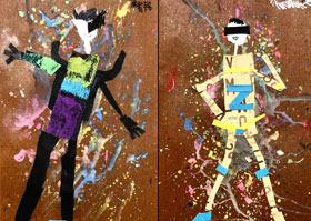 模特-儿童画A班-2020年8月5日 ★暑假班★ 新起点画苑-学生作品