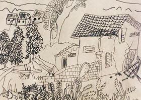风景-儿童画B班-2020年8月5日 ★暑假班★ 新起点画苑-学生作品
