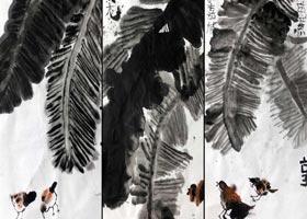 芭蕉-国画基础班-2020年9月13日 ◆秋季班◆ 新起点画苑-学生作品
