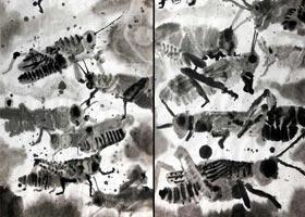 蝗虫-国画精英班-2020年9月12日 ◆秋季班◆ 新起点画苑-学生作品