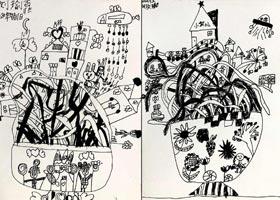 面条的世界-儿童画创想A班-2020年9月11日 ◆秋季班◆ 新起点画苑-学生作品