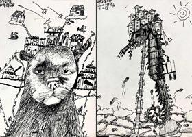 巨型动物-儿童画大师班-2020年9月12日 ◆秋季班◆ 新起点画苑-学生作品