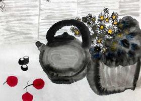 茶壶-国画基础班-2020年9月20日 ◆秋季班◆ 新起点画苑-学生作