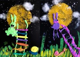 玉兔-儿童画启智班-2020年9月18日 ◆秋季班◆ 新起点画苑-学生