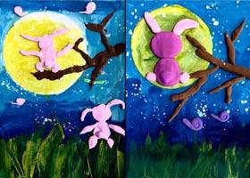 月圆之夜-儿童画创想A班-2020年9月18日 ◆秋季班◆ 新起点画苑