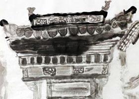古建筑-国画精英班-2020年9月26日 ◆秋季班◆ 新起点画苑-学生作品