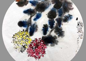 菊花-国画基础班-2020年10月8日 ◆秋季班◆ 新起点画苑-学生作品