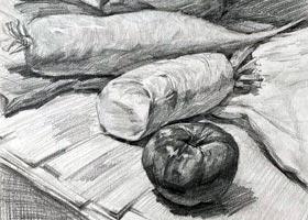 素描B班-2020年10月7日 ◆秋季班◆ 新起点画苑-学生作品