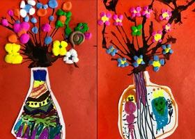 花-儿童画启智班-2020年10月10日 ◆秋季班◆ 新起点画苑-学生