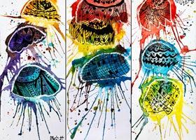 水母-儿童画基础班-2020年10月11日 ◆秋季班◆ 新起点画苑-学