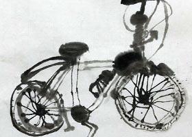 自行车-国画基础班-2020年10月18日◆秋季班◆新起点画苑-学生作品