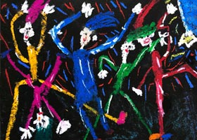 蹦迪-儿童画基础班-2020年10月18日◆秋季班◆新起点画苑-学生作品