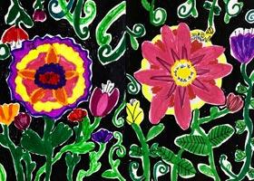 花色彩对比-儿童画创想B班-2020年10月17日◆秋季班◆新起点画苑-学生作品