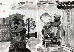 石狮-国画精英班-2020年10月24日◆秋季班◆新起点画苑-学生作品