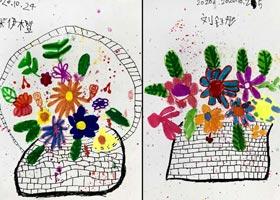 花篮-儿童画基础班-2020年10月25日◆秋季班◆新起点画苑-学生作品
