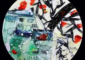 乡村的雪-儿童画创想A班-2020年10月23日◆秋季班◆新起点画苑-学生作品