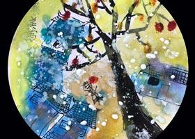 乡村的雪-儿童画创想B班-2020年10月24日◆秋季班◆新起点画苑-学生作品