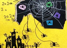万圣节手工-儿童画启智班-2020年10月30日◆秋季班◆新起点画苑-学生作品