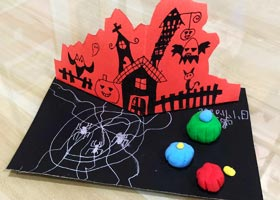 万圣节手工-儿童画基础班-2020年11月1日◆秋季班◆新起点画苑-学生作品