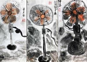 电风扇-国画基础班-2020年11月8日◆秋季班◆新起点画苑-学生作品
