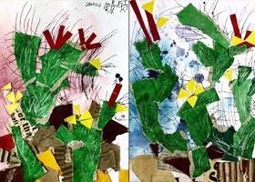 仙人掌撕贴-儿童画启智班-2020年11月6日◆秋季班◆新起点画苑-学生作品