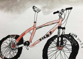 自行车写生-儿童画创想A班-2020年11月6日◆秋季班◆新起点画苑-学生作品
