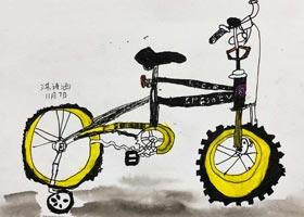自行车写生-儿童画创想B班-2020年11月7日◆秋季班◆新起点画苑-学生作品