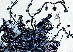 借形联想-儿童画大师班-2020年11月7日◆秋季班◆新起点画苑-学生作品
