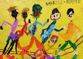 滑轮比赛-儿童画基础班-2020年11月15日◆秋季班◆新起点画苑-学生作品