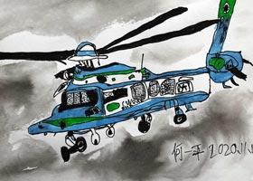 直升机写生-儿童画创想A班-2020年11月13日◆秋季班◆新起点画苑-学生作品