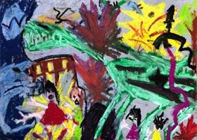 恐龙来了-儿童画创想A班-2020年11月20日◆秋季班◆新起点画苑-学生作品