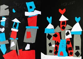 城堡-儿童画启智班-2020年12月25日◆秋季班◆新起点画苑-学生作品