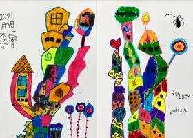 创意房子-儿童画基础班-2021年1月3日◆秋季班◆新起点画苑-学生作品