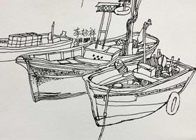 渔船写生-儿童画大师班-2021年1月2日◆秋季班◆新起点画苑-学生作品
