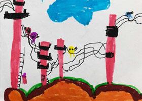 电线杆上的鸟儿们-儿童画启智班-2021年3月5日◆春季班◆新起点