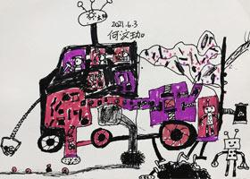 我设计超级环保车-儿童画创想B班-2021年3月6日◆春季班◆新起