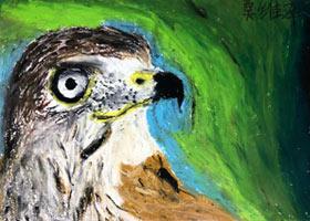 鹰油画棒写生-儿童画大师班-2021年3月6日◆春季班◆新起点画苑