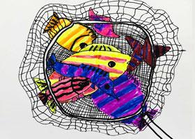捞鱼-儿童画基础班-2021年4月18日◆春季班◆新起点画苑-学生作