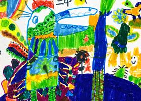 小鸡的盛装-儿童画创想A班-2021年4月16日◆春季班◆新起点画苑