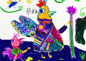 小鸡的盛装-儿童画创想B班-2021年4月16日◆春季班◆新起点画苑